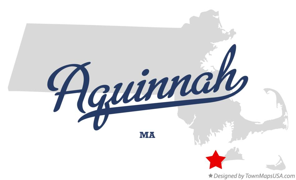 Map of Aquinnah Massachusetts MA