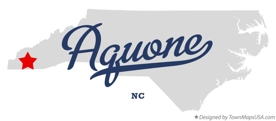 Map of Aquone North Carolina NC