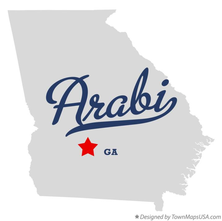 Map of Arabi Georgia GA