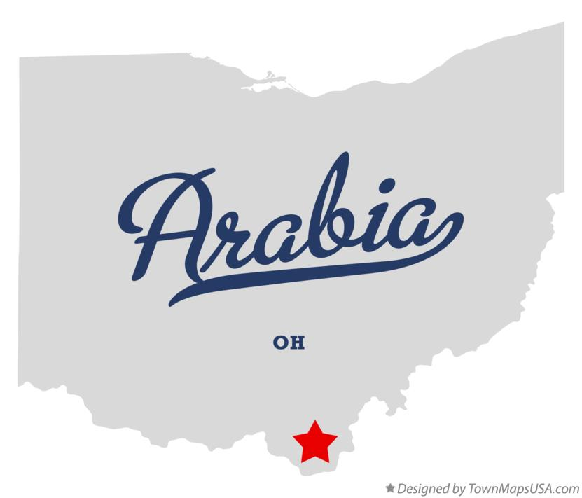 Map of Arabia Ohio OH