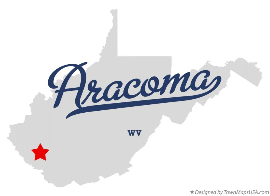 Map of Aracoma West Virginia WV