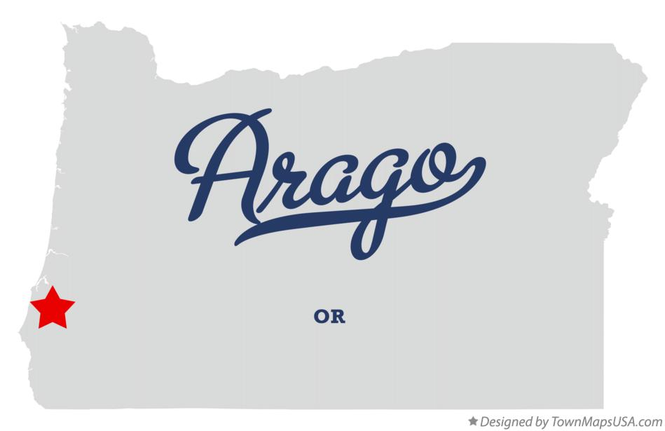 Map of Arago Oregon OR