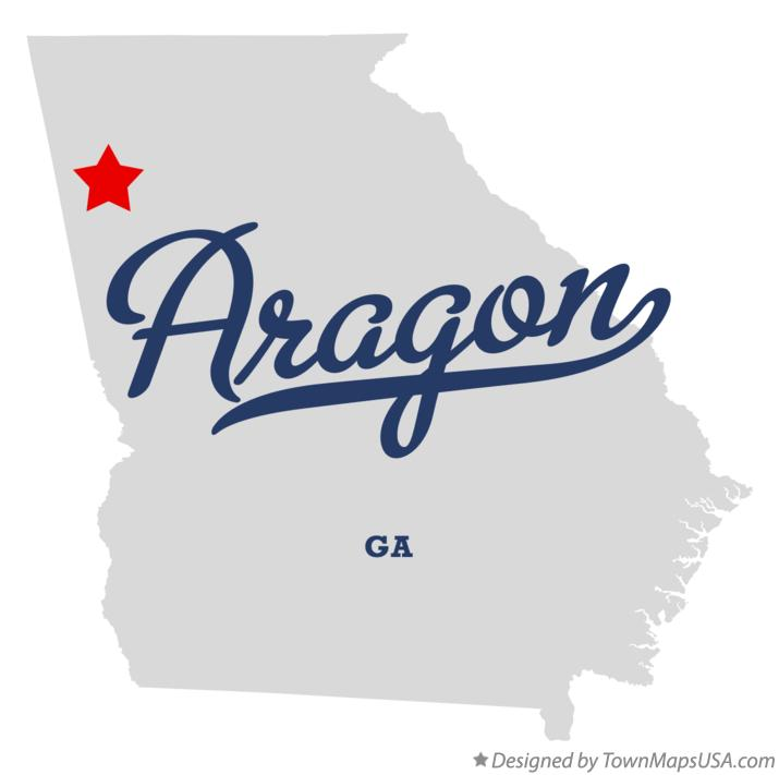Map of Aragon Georgia GA