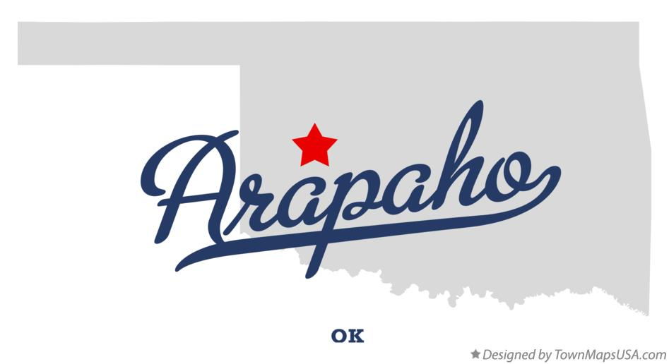 Map of Arapaho Oklahoma OK