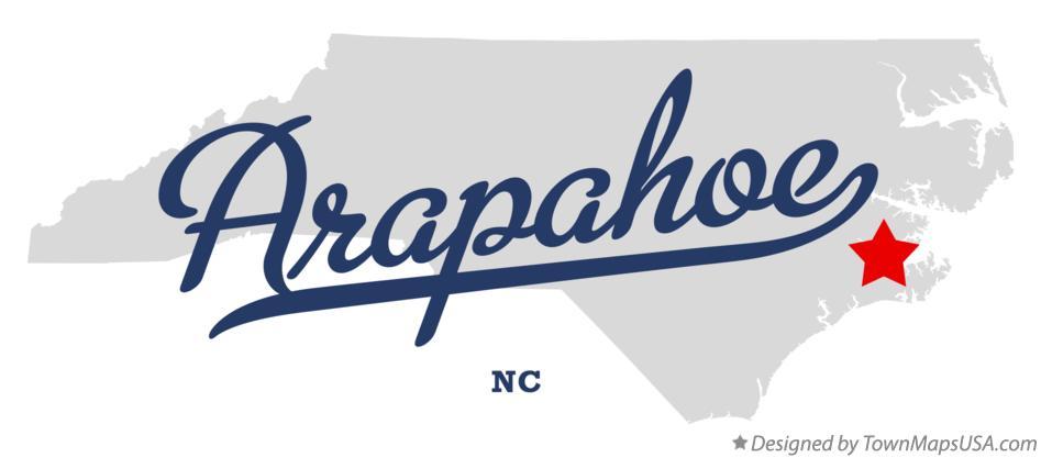 Map of Arapahoe, NC, North Carolina