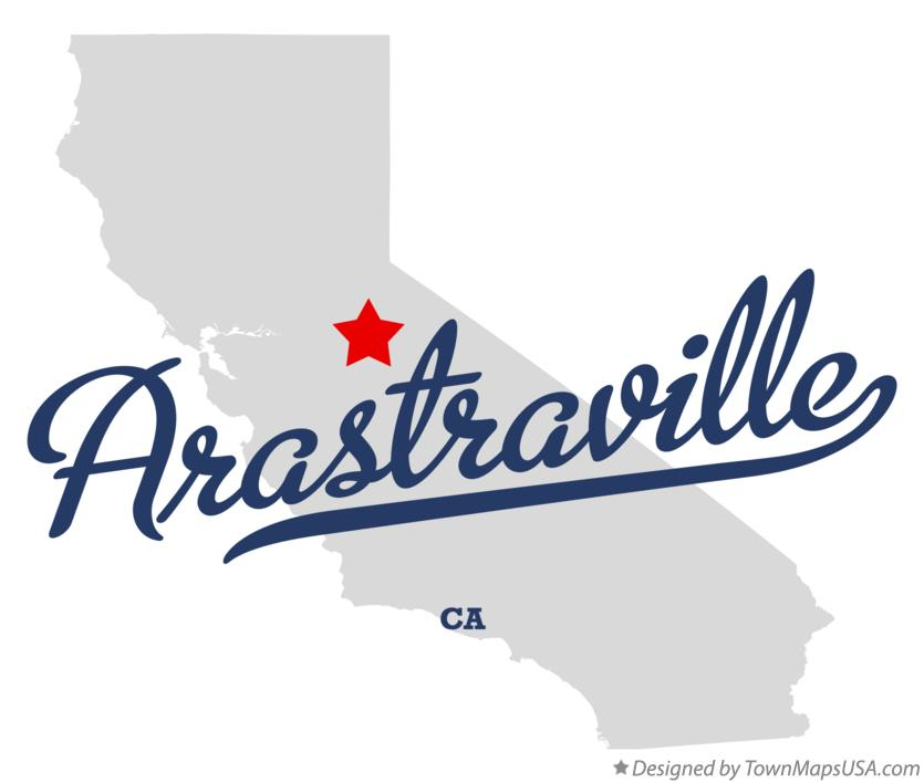 Map of Arastraville California CA