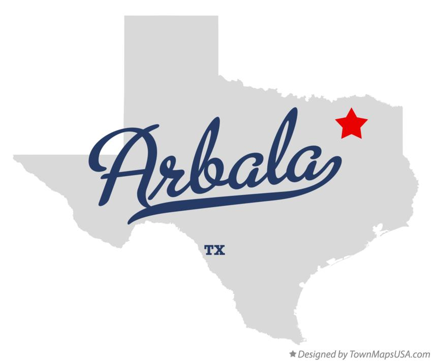 Map of Arbala Texas TX