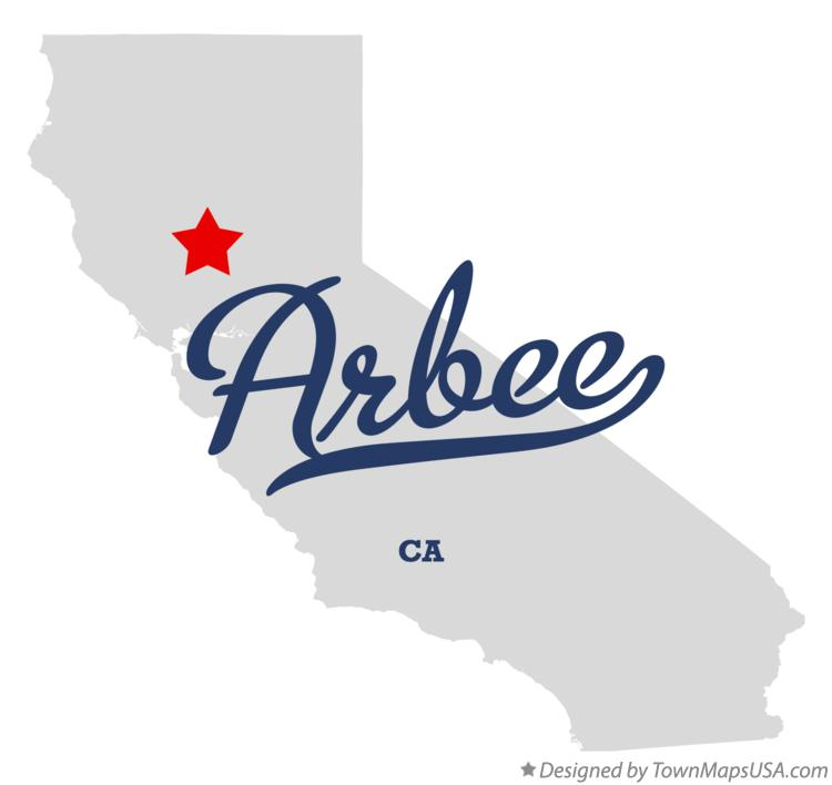 Map of Arbee California CA