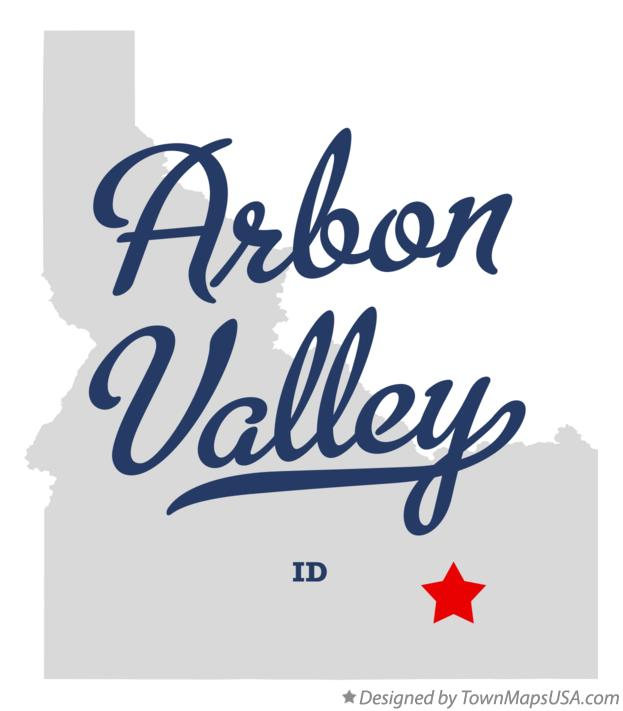 Map of Arbon Valley Idaho ID
