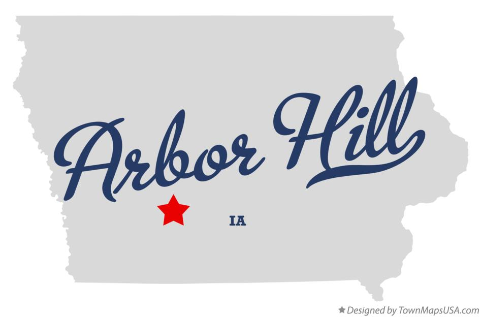 Map of Arbor Hill Iowa IA