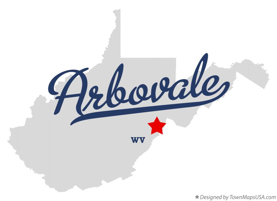 Map of Arbovale West Virginia WV