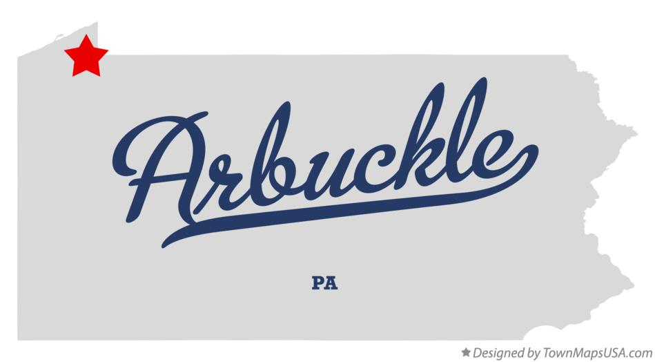 Map of Arbuckle Pennsylvania PA