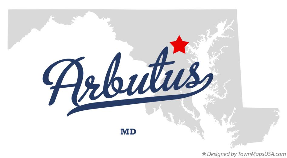 Map of Arbutus Maryland MD