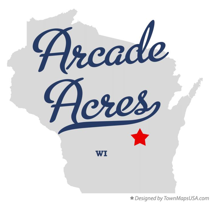Map of Arcade Acres Wisconsin WI