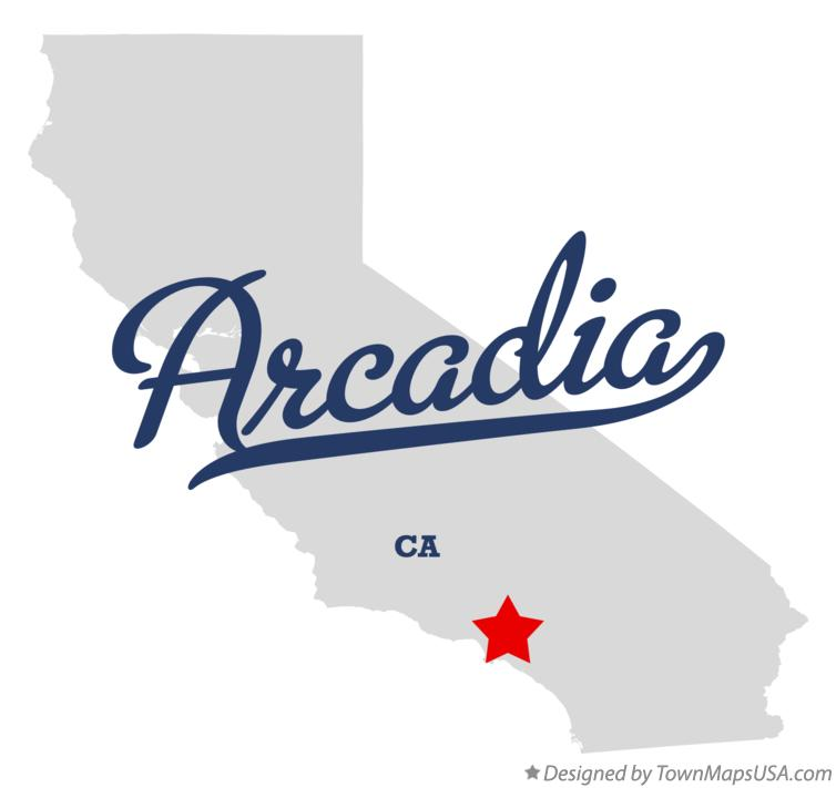 Map of Arcadia California CA