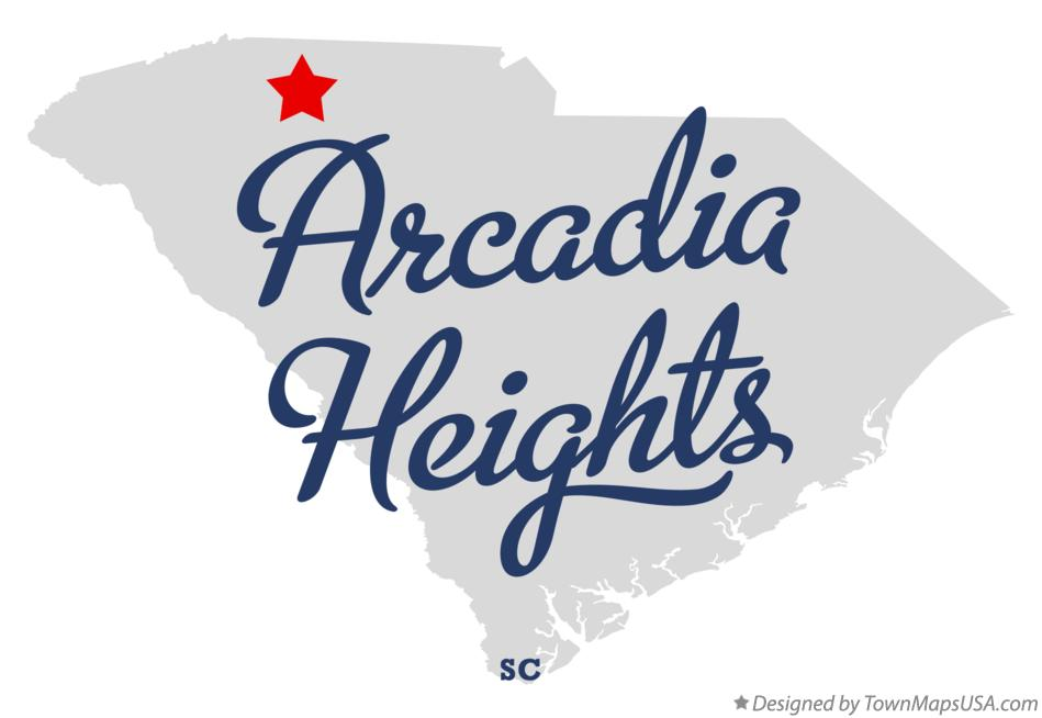 Map of Arcadia Heights South Carolina SC