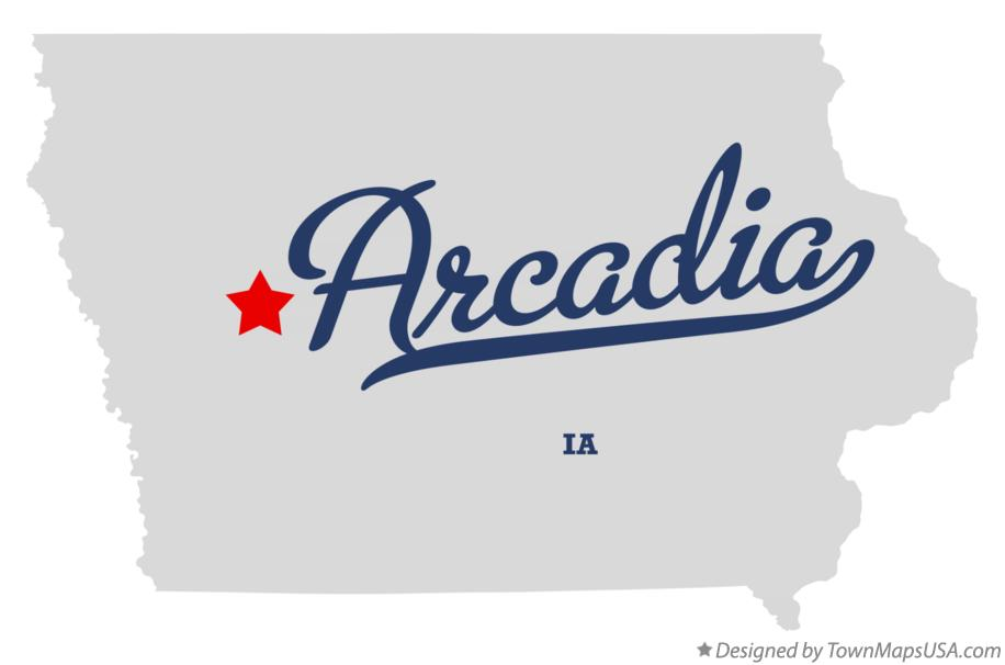 Map of Arcadia Iowa IA