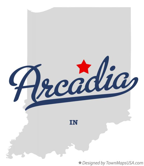 Map of Arcadia Indiana IN