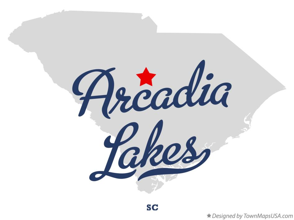 Map of Arcadia Lakes South Carolina SC