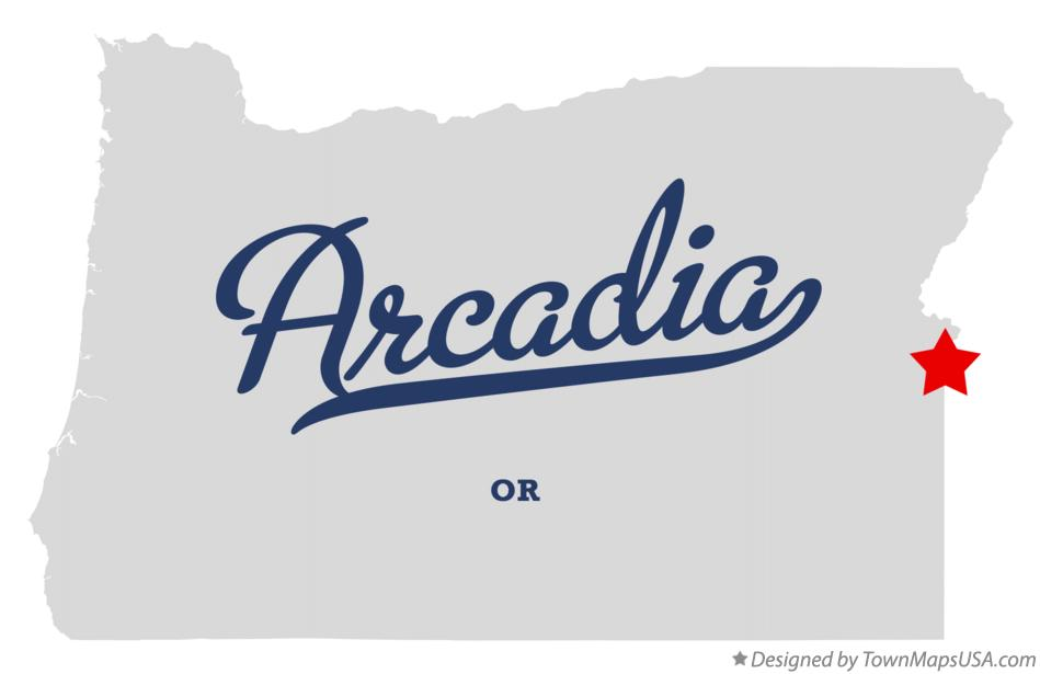 Map of Arcadia Oregon OR