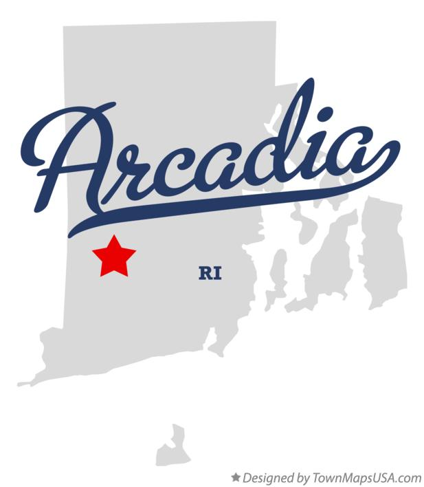 Map of Arcadia Rhode Island RI