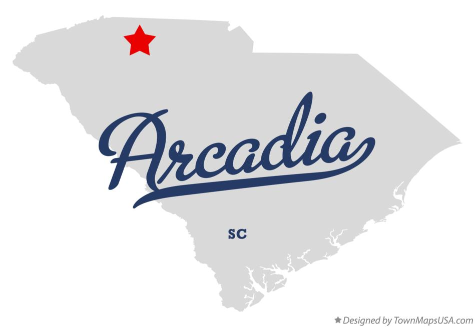 Map of Arcadia South Carolina SC