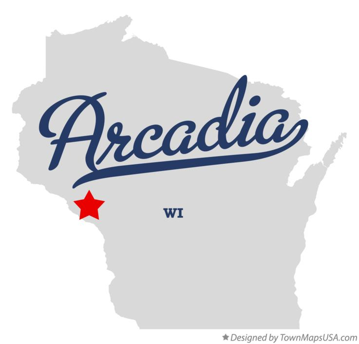 Map of Arcadia, WI, Wisconsin