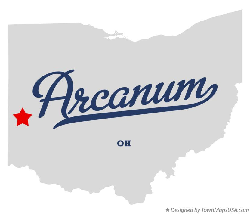 Map of Arcanum Ohio OH