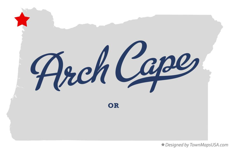Map of Arch Cape Oregon OR