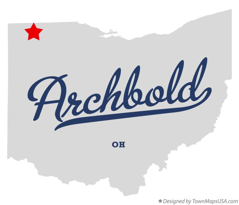 Map of Archbold Ohio OH