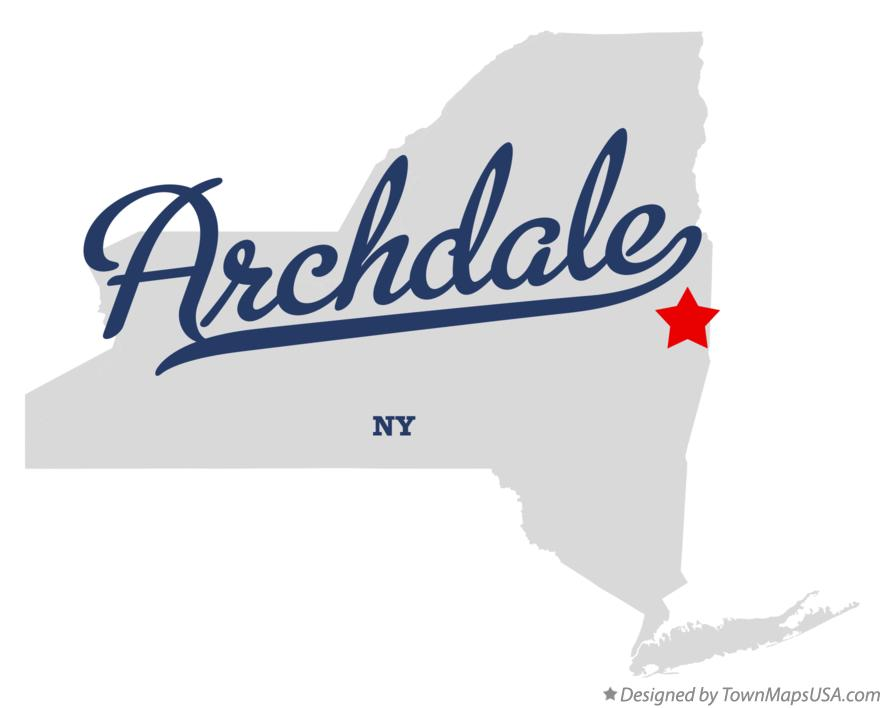 Map of Archdale New York NY