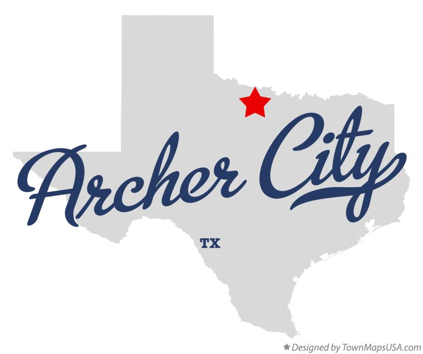 Map of Archer City Texas TX