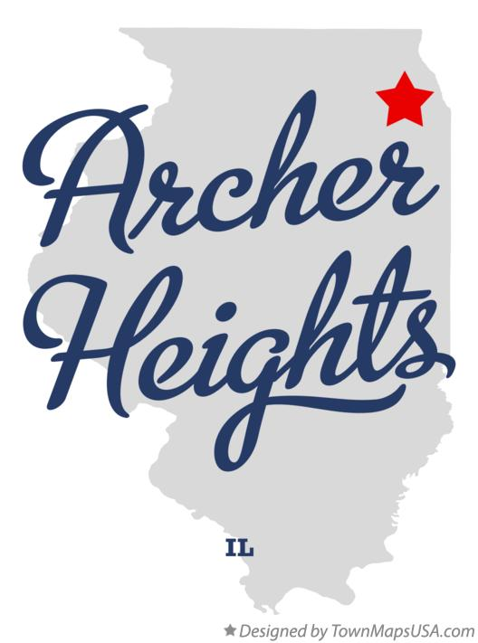Map of Archer Heights Illinois IL