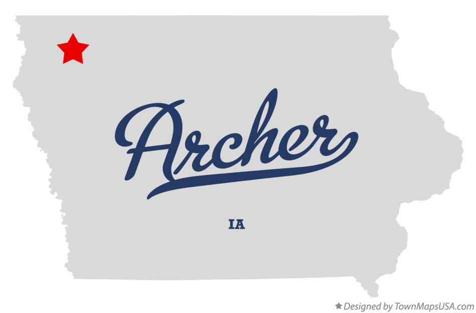Map of Archer Iowa IA