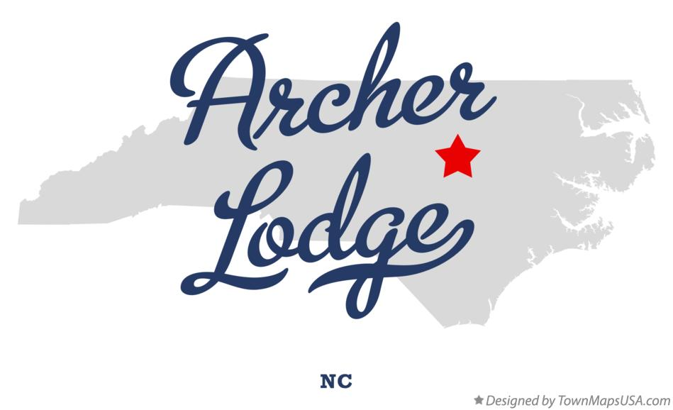 Map of Archer Lodge North Carolina NC