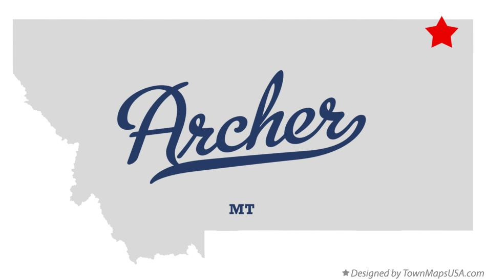 Map of Archer Montana MT
