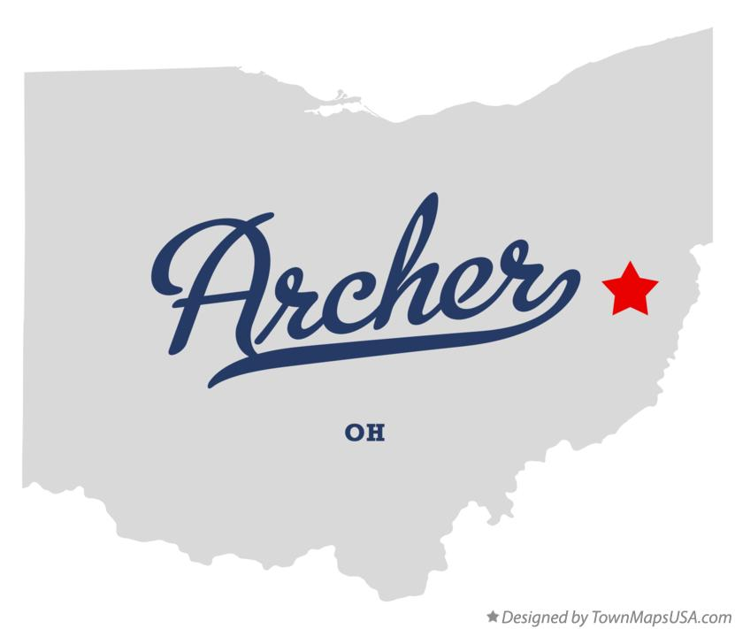 Map of Archer Ohio OH