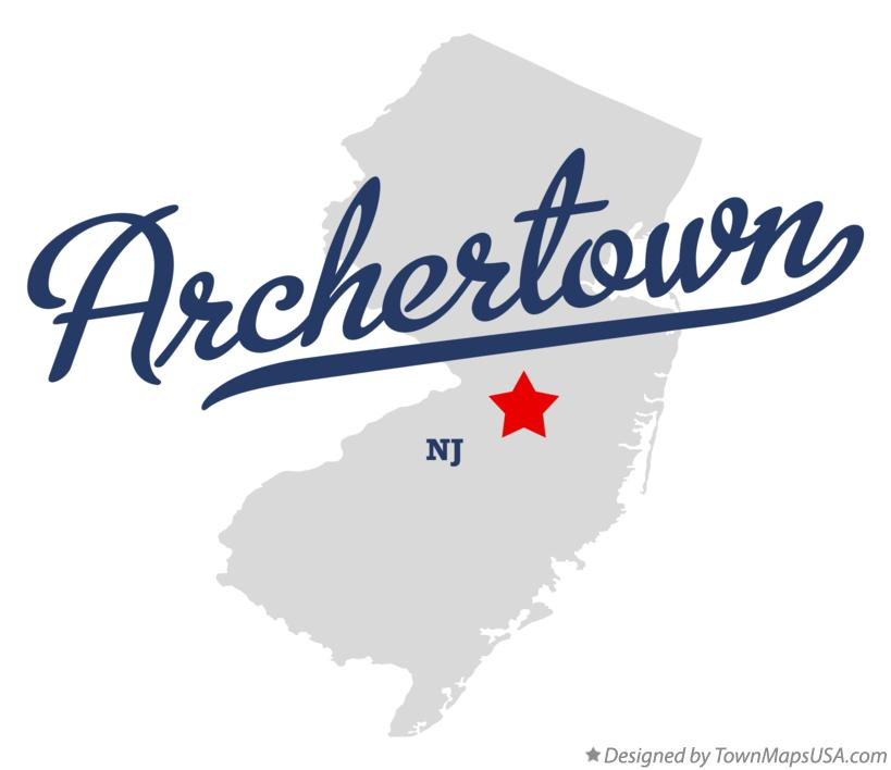 Map of Archertown New Jersey NJ