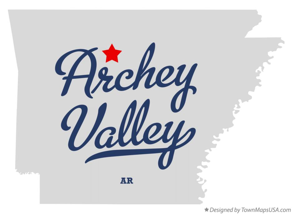 Map of Archey Valley Arkansas AR