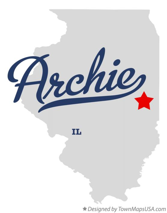 Map of Archie Illinois IL