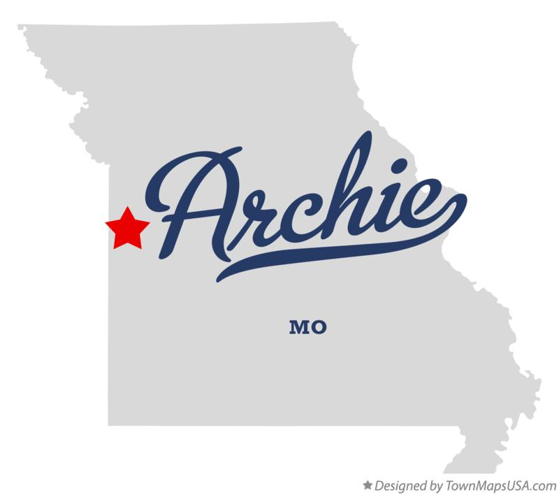 Map of Archie Missouri MO