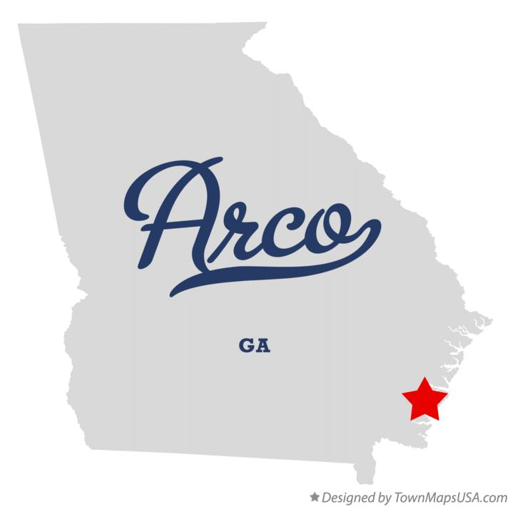 Map of Arco Georgia GA