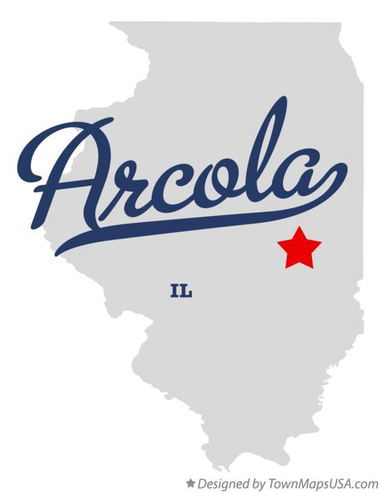 Map Of Arcola Il Illinois