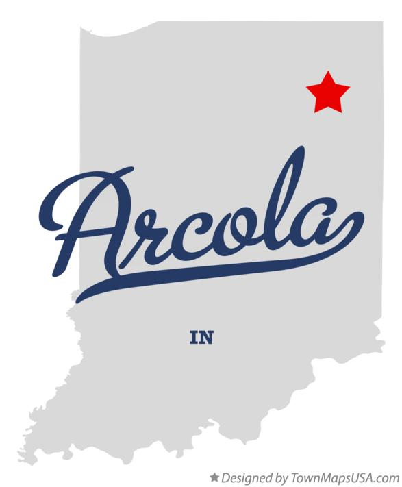 Map of Arcola Indiana IN