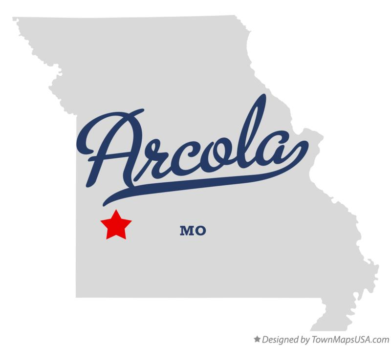 Map of Arcola Missouri MO