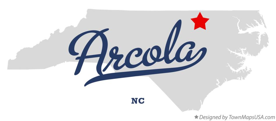 Map of Arcola North Carolina NC