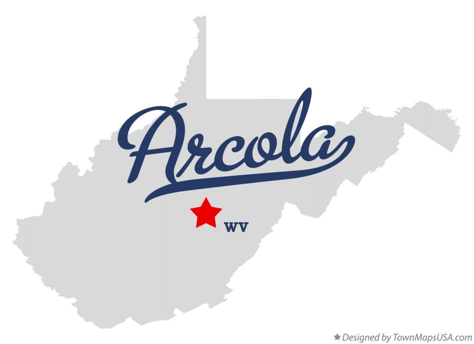 Map of Arcola West Virginia WV