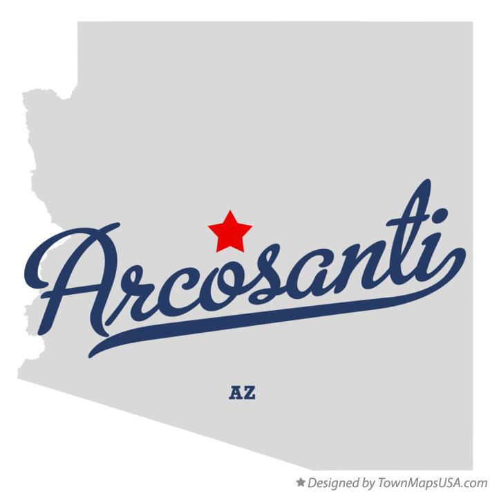 Map of Arcosanti Arizona AZ