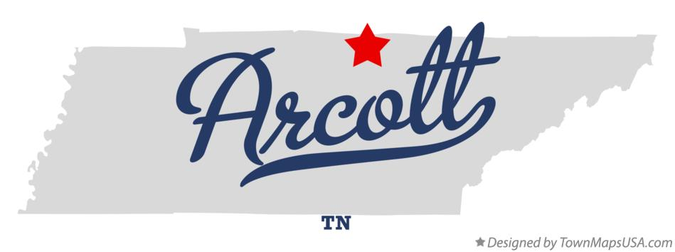 Map of Arcott Tennessee TN