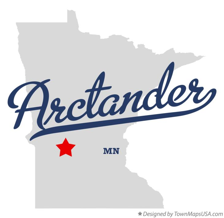 Map of Arctander Minnesota MN